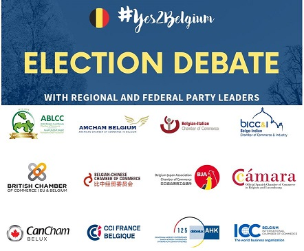 Photo: #Yes2Belgium Election Debate -10 political parties - 12 international chambers