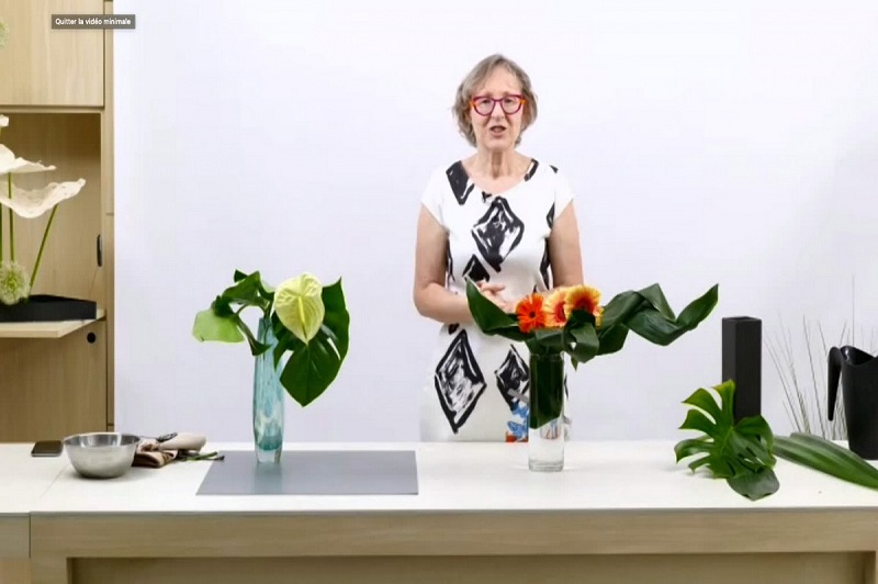 Photo: Pictures of the Ikebana Workshop: Fun with Leaves