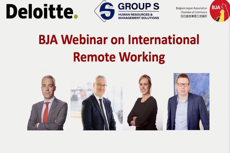 Photo: Pictures of the BJA Webinar on International Remote Working